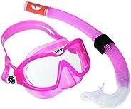 Aqua Lung Unisex Child TE MIXSETPINKWHITE Aqua Lung Sport Mix Reef DX2 Snorkel Set - Pink, Free Size