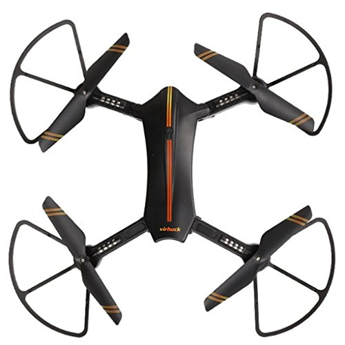 Virhuck 720P Foldable WIFI FPV Selfie RC Quadcopter Drone 2.4 GHz, 120° Wide-Anglelens Camera Trajectory Flight Altitude Hold Aerial Photography RC Drone