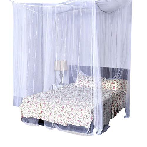 Doppelbett Moskitonetz inklusive Klebehaken für Reise und Zuhause Mückennetz Baldachin Mückenschutznetz Insektenschutz Einzelbett