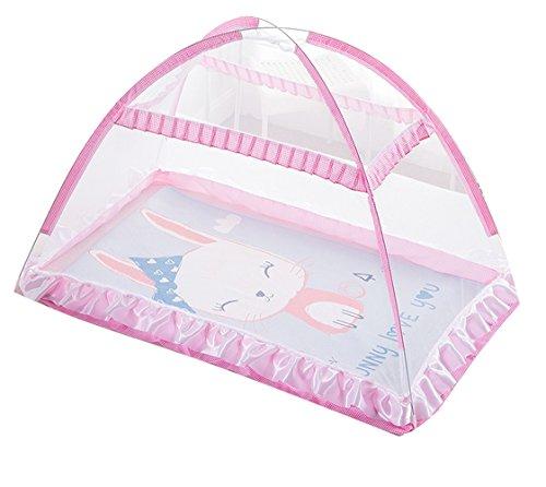 Mosquito Net Baby Travel Bed Cuna Pop Up Tent, Tienda plegable portátil Sleeping Tent, Travel Kids Tent, Tienda de playa, Aumentar, TAMAÑO EXTRA-LARGE, Rosa
