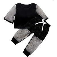Haokaini 1-5 Años Niños Niña Verano Hilo Traje Moda Traje Camisa de Manga Larga + Pantalones