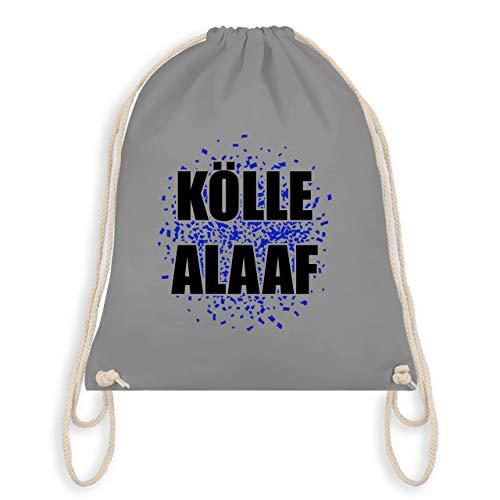 Karneval & Fasching - Kölle Alaaf blau - Unisize - Hellgrau - WM110 - Turnbeutel & Gym Bag