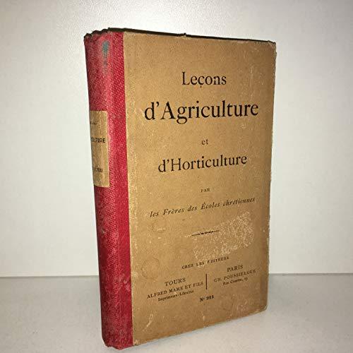 Lecons d4agriculture et d'horticulture par Freres Ecoles Chrétiennes