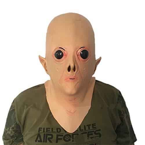 Masken Latex Kopf Maske, Alien große Augen UFO Halloween Horror Maskerade Zombie Ghost Creepy (Großer Kopf Maske Baby)