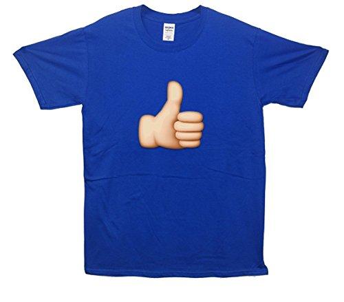 Thumbs Up Emoji T-Shirt Blau