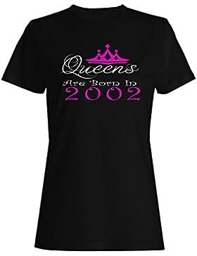 Queens nacieron en 2002 camiseta de las mujeres y48f