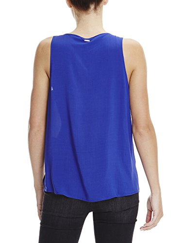 Bench Damen Top Top With Knot Detailing Blau (Yves Blue BL11216)