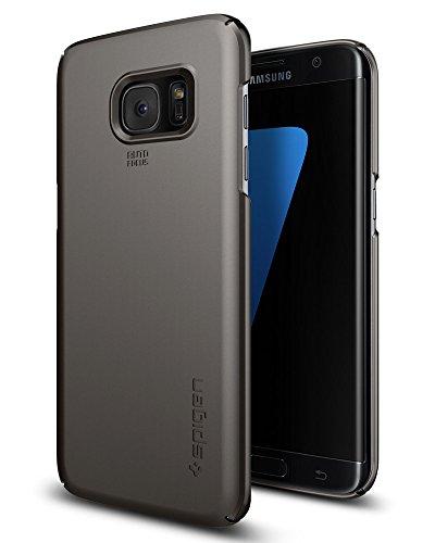 Custodia Galaxy S7 Edge, Spigen [Protezione 360°] Thin Fit [Gunmetal] **Ultra-Sottile & Robusto** Custodia Samsung Galaxy S7 Edge, Cover Galaxy S7 Edge (556CS20030)