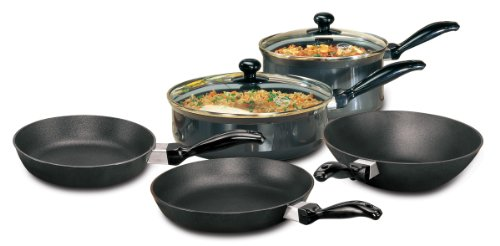Hawkins Futura Non-Stick Cookware, 7 Pieces Set- FREE UK SHIPPING- Includes one deep-fry pan, two frying pans, one curry pan and one saucepan