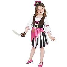 Smiffy's - Disfraz de pirata rosa para niña, talla S (4-6 años)