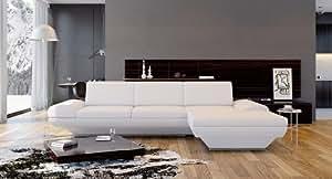 ledersofa leder ecksofa sofa polsterecke ledercouch eckcouch montreal k che haushalt. Black Bedroom Furniture Sets. Home Design Ideas