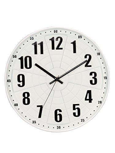 Basement Bazaar Maze Plastic Wall Clock (30cm x 30cm,White)