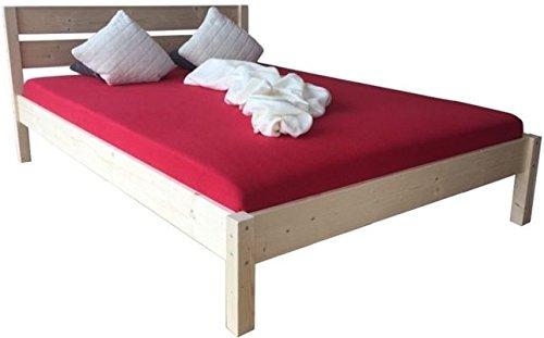 Massivholzbett Bett mit hohem Kopfteil Holzbett 90 100 120 140 160 180 200 x 200cm hergestellt in BRD (140cm x 200cm)