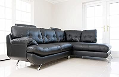 Brand New - Sandy Corner Sofa - Faux Leather - Right Hand Side from ROBERTO