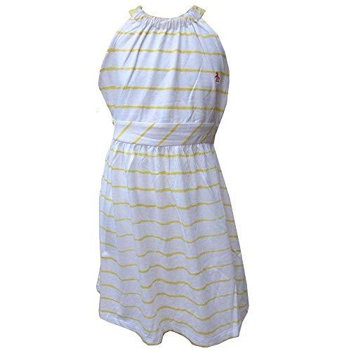 b Jersey Kleid Weiß/Gelb Streifen Ages 8 Jahre bis zu 15 Jahre - Popcorn Weiß, 10-11 Jahre /140-146cm ()