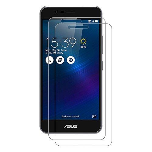 [2 Pack] Asus Zenfone 3 Max Schutzfolie, AICEK Touch Kompatibel Asus Zenfone 3 Max 5,2 Zoll ZC520TL Displayschutzfolie Panzerglas Displayschutz Screen Protector 9H Hardness Gehärtetem Glas