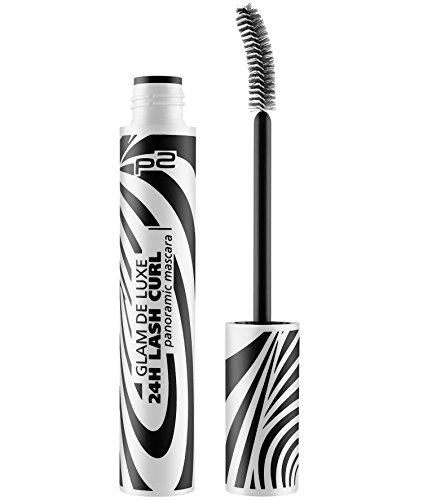 p2 cosmetics Glam De Luxe 24h Curl Panoramic Mascara, 3er Pack (3 x 9 ml) -