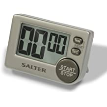 Salter Big Button Timer - Electronic Digital Kitchen Stopwatch, Memory Function, Loud Beeper, Magnetic/Self Standing, Prop on Worktop or Stick to Fridge, Clear LCD, Read with Ease, up to 99 min 59 sec
