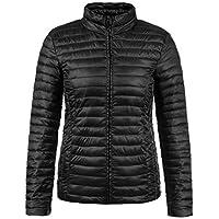 ONLY Britta Damen Übergangsjacke Steppjacke leichte Jacke gefüttert mit Stehkragen