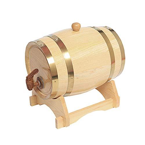 Zljaa Weinfass, Vintage Holz Bier Whisky Rum Wein Tequila Dispenser Cask Brewing, Freistehende Weinfass, Weinherstellung Ausrüstung,15L -
