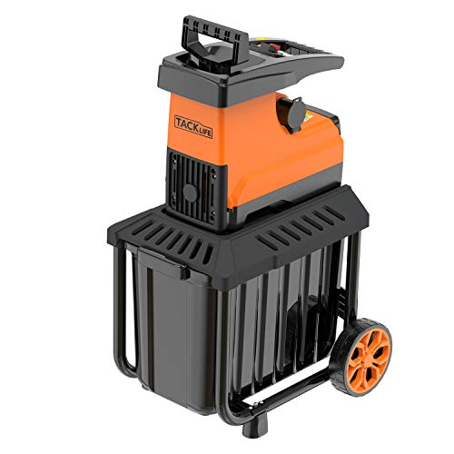 TACKLIFE Garden Shredder, Wood Chipper, 2500W Power, Max 40mm Cutting Capacity, 60L Collection Box, Induction Quiet Motor, Adjustable Cutting Blade, 2 Years Warranty PWS01A