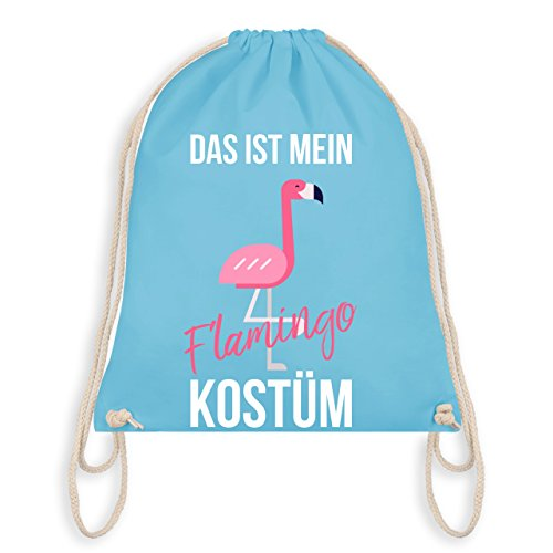 - Das ist mein Flamingo Kostüm - Unisize - Hellblau - WM110 - Turnbeutel I Gym Bag (Last Minute Kostüme Frauen)