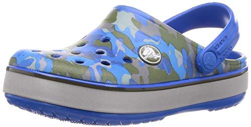 crocs Unisex-Kinder Cb Camo Reflect Band Clog K Wassersportschuh, Bright Cobalt, 34 EU