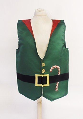 Elf Herren Kostüm Kleine - L&S PRINTS FOAM DESIGNS Elf Design Weste Fun & Fancy für alle Anlässe Festival Parteien erhältlich S, M, L, XL, Größen erhältlich (Large 44-46-48)