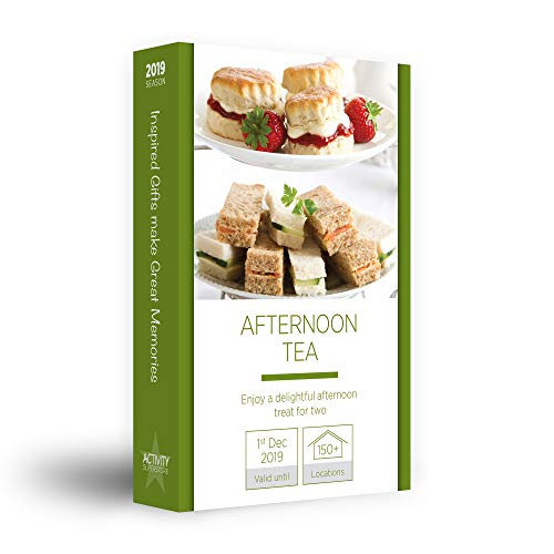 Activity Superstore Afternoon Tea for Two Gift Experience - Enjoy a Delightful Treat Available at Over 150 Locations Nationwide.