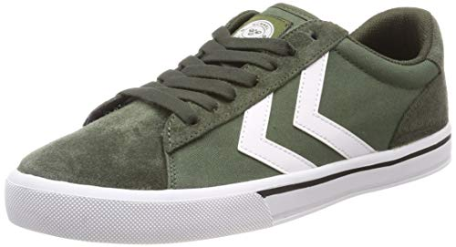hummel Unisex-Erwachsene NILE Canvas Low Sneaker, Grün (Olive Night 6453), 39 EU