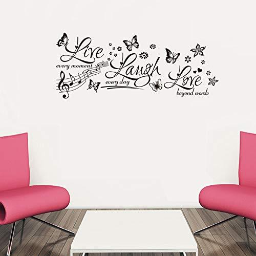 ELGDX Autocollant Mural Papillon Et Fleur Vivant Rire Salon Chambre Peut Supprimer Le Fond Art Affiche Papier Peint
