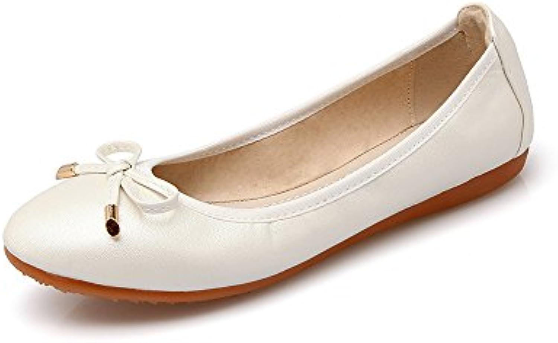 Yiye Mujer Suela Blanda Pumps Breathable Square Beads Summer Zapatos