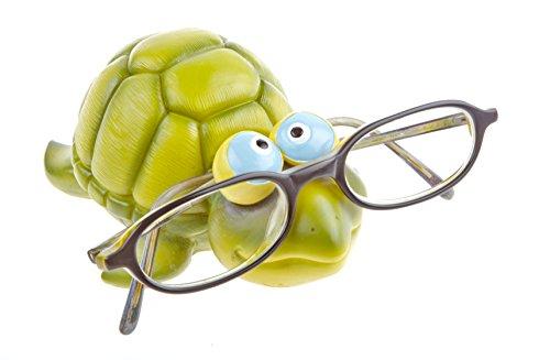 Kinderbrillenhalter, Brillenhalter Karibik, Design Schildkröte, ein Muss für Schildi Sammler, handbemalt, aus Polyresin, für jung und alt, für Kinder und Junggebliebene, lustig und frech