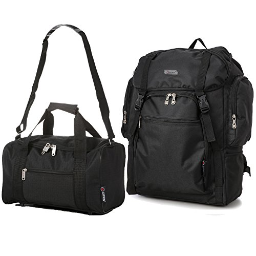 5 Cities - Zaino da trekking, colore: Nero Schwarz + 2nd Tasche