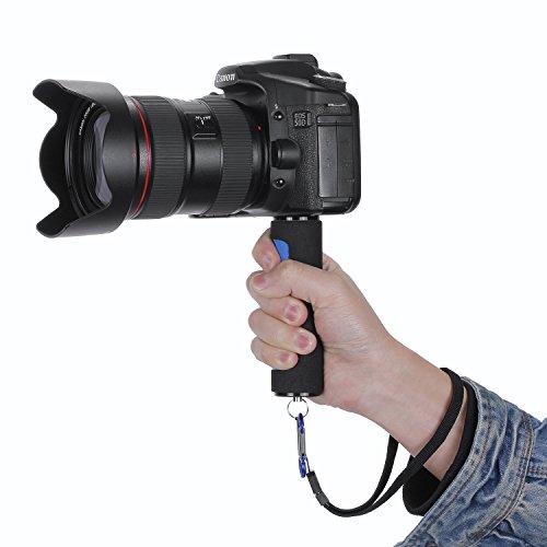 Hand Griff Stabilisator mit Gurt für Digitalkameras, Camcorder, Gopro Hero, Sony Action Cam und andere DSLR-Kameras, Blau