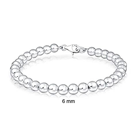 Bling Jewelry 925 Argent Sterling perles bille nuptiale mariage Bracelet 6mm