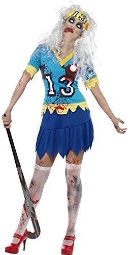 e Hockey Spieler Trainer Halloween Kostüm Kleid Outfit 8-18 - Blau, 12-14 (Hockey Spieler Kostüme Für Halloween)