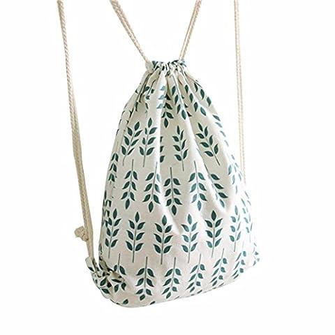 kingko® turnbeutel Frauen Kordelzug Strahl Port Rucksack Einkaufstasche Reisetasche Wheat