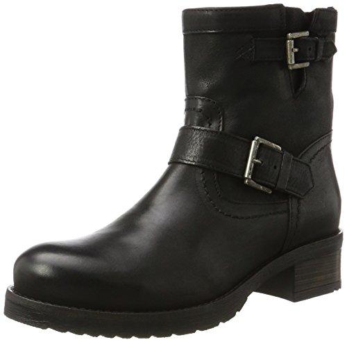 Buffalo London Damen ES 30509 Mexico Suede Biker Boots, Schwarz (Preto 06), 38 EU (Biker-schwarz-leder)