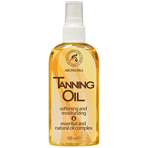 Bräunungsöl 100ml mit Natürlich Karottenöl & Jojobaöl - Feuchtigkeitsspendend nach Sonne - Intensive Gesichtspflege - Körperpflege - Accelerate Sun Tan - Sonnenschutzmittel mit Lichtschutzfaktor - Karotte Body Lotion