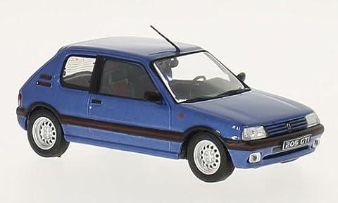 Voiture Miniature Peugeot 205 - Peugeot 205 GTI, metallic-bleu, 1992, voiture miniature,