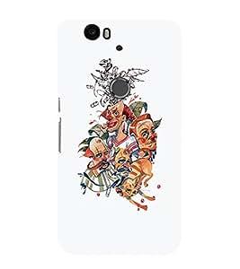 EPICCASE Funny family Mobile Back Case Cover For Huawei Nexus 6P (Designer Case)
