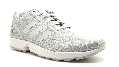 Adidas per gli uomini: Zx Flux Techfit grigio delle scarpe da tennis (8) Clear/Clear/Supyel