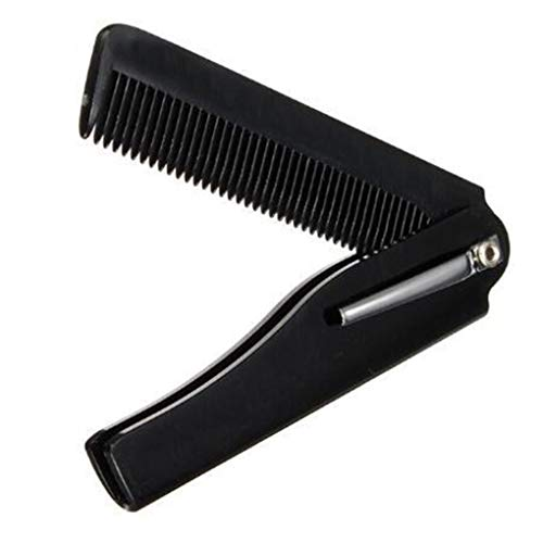 Men Folding Pocket Clip Plastic Portable Head Beard Combs Bussiness Trip Travel Lightweight Comb
