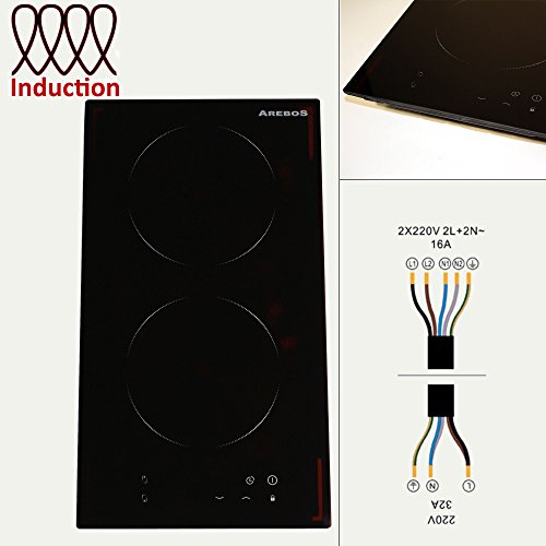 Arebos Double Plaque de Cuisson à Induction Cuisinière 2 Foyers
