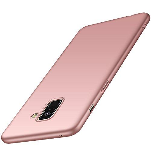 anccer Samsung Galaxy A8 Hülle, [Serie Matte] Elastische Schockabsorption und Ultra Thin Design für Samsung Galaxy A8 2018 (Glattes Rosen-Gold)