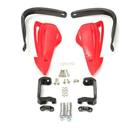 PeroFors 22Mm 7/8Inch Universal Motocross Enduro Motorcycle Atv Hand Control Brush Guards-Red