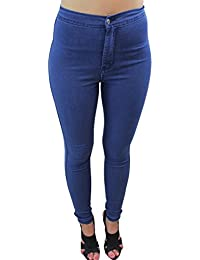 Celeb Look Indigo Wash High Waisted Skinny Fit Disco Jeans