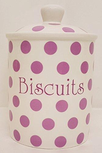 Violet Pois-Pot à Biscuits en porcelaine Fine de lavande Pot à Biscuits décoré à la main en forme de U. K.-gratuite