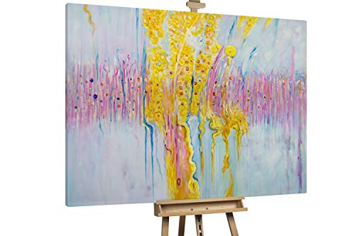 'Sommerduft' 200x150cm | Abstrakt Bunt Pink XXL | Modernes Kunst Ölbild